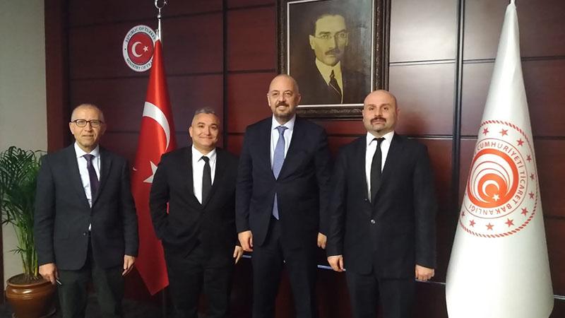 Ticaret  Bakan Yardımcısı Sn. Rıza Tuna Turagay ECİD Yönetim Kurulu Üyelerini Kabul Etti